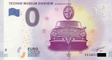 0 Euro Schein - Technik Museum Sinsheim 2019-5 Alfa Romeo null €