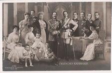 Vintage Postcard Kaiser Wilhelm II, Empress August & German Royal Family