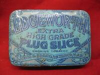 Antique Edgeworth Plug Slice Smoking Tobacco Advertising Tin Richmond VA