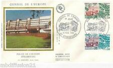 1982**ENVELOPPE SOIE**FDC 1°JOUR**CONSEIL DE L'EUROPE**TIMBRE Y/T 73-74