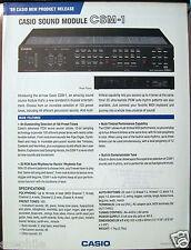 Casio CSM-1 CSM-10P MIDI Sound Module Original Casio Color Brochure