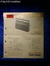 Sony Service Manual CF 370L Cassette Recorder (#0445)