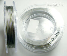 1 reel ~ 100 M TIGER TAIL CLEAR BEADING TIGERTAIL WIRE 0.4mm
