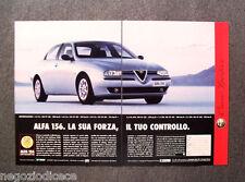 N740 - Advertising Pubblicità - 1998 - ALFA 156 , LA SUA FORZA IL TUO CONTROLLO