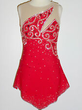 Custom Made To Fit Beautiful Figure Skating Dress With Crystals