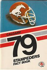 1979 Calgary Stampeders Fact Book