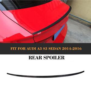 Carbon Heckspoiler Abrisskante Lippe für Audi A3 S3 8V TFSI TDI Spoiler Turning