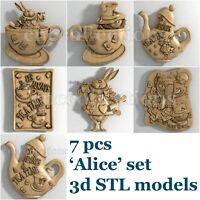 3d stl models 7 pcs set for CNC Router Artcam Aspire