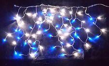 Stalattite Tende 76 MaxiLed Bianco e Blu , Luci di Natale