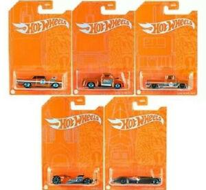 Hot Wheels Orange And Blue EMC Exclusive 53th Anniversary lot de 5 (Cart)