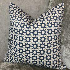 "Cushion Cover 16"" Prestigious Textiles Fabric , Floral Design Blue & White"