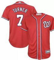 Trea Turner Washington Nationals  Majestic Jersey Red Mens 2XL