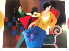 Little Round Table Number 7 Seriolithograph Print by Itzchak Tarkay SIGNED