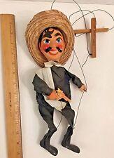 Vintage Mexican Marionette Puppet With Gun Pistol Bandit Mexico Cowboy Puppet