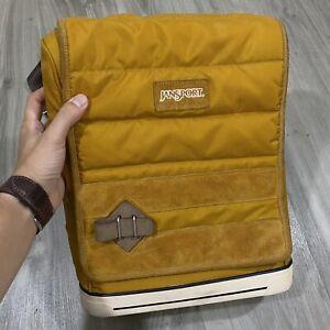 """Super Rare JanSport Sole Pack V1.09 Tan Messenger Bag 13"""" Laptop Shoulder Bag"""