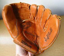 "Vtg Wison A9830 Fieldmaster Leather RHT Pitchers Softball Baseball Glove 11"" USA"