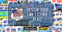 Custom Printed US License Plates, California, New York, NC, Texas, Nevada