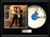 STEVIE RAY JIMMIE VAUGHAN FAMILY STYLE  WHITE GOLD SILVER PLATINUM TONE RECORD