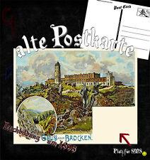 Postkarte Gruss vom Brocken Nachbildung 1895