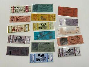 Lot of 16 Elvis Presley Replica Vintage Concert Tickets