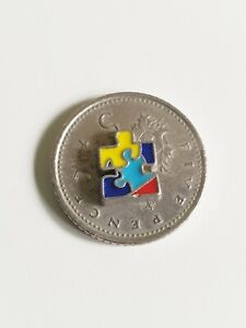 Autism Awareness Jigsaw Multi Colour/ Floating Charm for Memory Locket