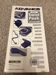TRAVEL PACK (GREY) FOR GAMEBOY ADVANCE - NEVER USED - LIGHT/CASE/ ADAPTORS ETC.