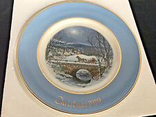 "Christmas ""Dashing Through The Snow"" Collectible Plate 1979 Avon Wedgwood Nib"