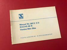 SACHS • 80B Owners Operators Manual 71 72 73 Speedway 80cc Widow Maker Mini Bike