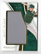MATT OLSON MLB 2016 IMMACULATE COLLECTION IMMACULATE JUMBO MATERIALS (ATHLETICS)