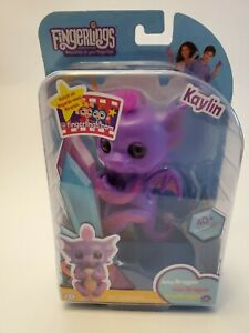 CUTE!  NEW WowWee Fingerlings Toy BFF Collection  Baby KAYLIN PURPLE DRAGON