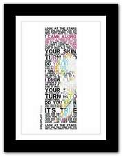 More details for ❤ coldplay yellow ❤ song lyrics poster art limited edition typography print #26