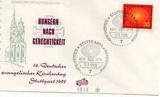 Bund FDC MiNr. 595 Deutscher Evangelischer Kirchentag, Stuttgart