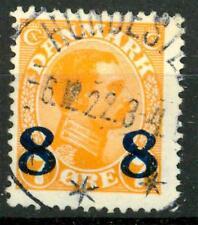 DENMARK - DANIMARCA - 1921 - Francobolli del 1913-19 sovr. - 8 su 7 arancio