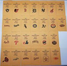 1982 Strat-O-Matic Baseball Printed Storage Envelopes with Stats and Team Logo