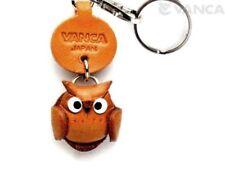 Little Owl Handmade Leather Zodiac Keychain *VANCA* Made in Japan #56257