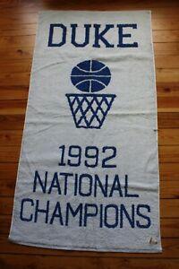NWD Duke University 1992 National Basketball Champions Fieldcrest Cannon Towel