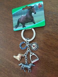 Horse Lover's Charm Keychain - new, with tag