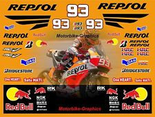 MINI MOTO 2015 Moto GP Repsol Mark Marquez Decal Graphics Stickers Kit BIN