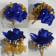 Royal Blue Gold Rose Hydrangea