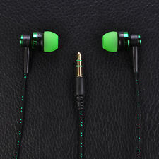 3.5 mm In-Ear Stereo Earbuds Earphone Headset Braided Cord Headphone For Phones