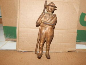Vintage Boys Scout Metal Bronze Colored Bank
