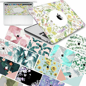 """For Macbook AIR/PRO 13"""" 2008-2021 Plants Flower Pattern Hard Case Keyboard Cover"""