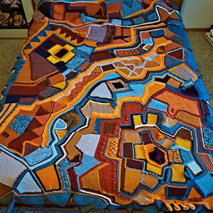 Rochelle Newman Original Fiber Art Abstract Tapestry Knit Crochet Wool 2021 New