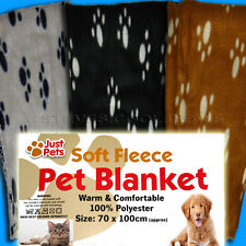 PET BLANKET THROW CAT KITTEN DOG PUPPY SOFT FLEECE WARM COMFORTABLE 70 x 100 cm