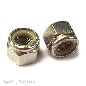 UNF Stainless Steel Nyloc Nylon Lock Nut 3/16 1/4 5/16 3/8 7/16 1/2 9/16 5/8 3/4
