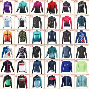 Womens cycling Long sleeve jersey bike shirt autumn racing tops bicycle uniform