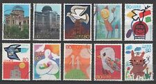 Japan 2852a-j Hiroshima World Heritage sites (10 USED Stamps from sheet)