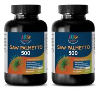Original Saw Palmetto Extract 500mg (2 Bottles, 200 Capsules)