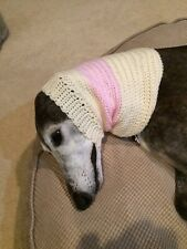 Greyhound Dog Cream/Pink Snood 2 Cover Neck **100% Donation 2 Cure K9 Cancer