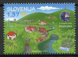 Slovenia Landscapes Stamps 2021 MNH Dolensjka EDEN Tourism Nature 1v Set